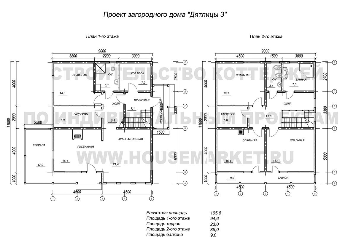 Дятлицы-3 Хаус Маркет планировки