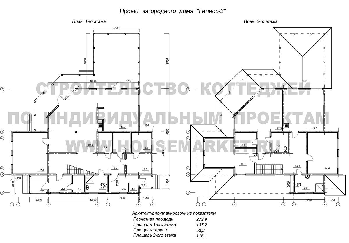 Гелиос 2 планировка Хаус Маркет
