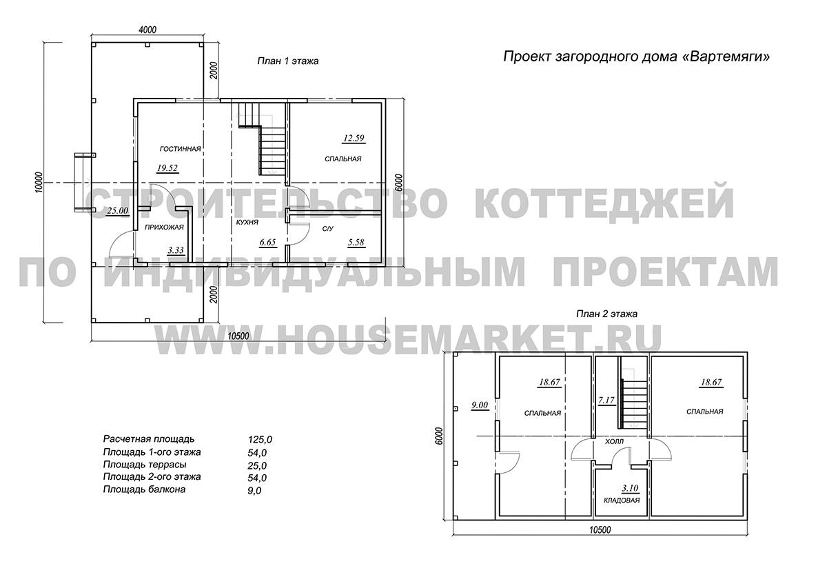 Вартемяги планировка Хаус Маркет